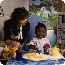 Mary Lisa Katakis-Spano paints with a patient