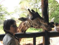 Rusti enjoying the company of this lovely giraffe